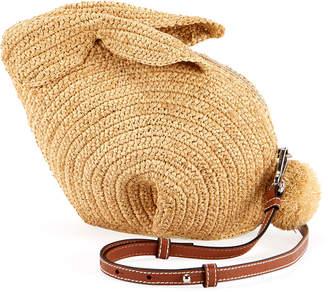 Loewe Bunny Raffia Mini Crossbody Bag