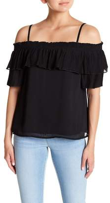 Jessica Simpson Chris Cold Shoulder Pleated Blouse