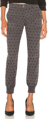 Monrow Polka Stars Woven Cuff Pant