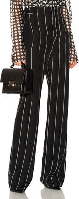 Haider Ackermann Striped High Waisted Wide Leg Trousers