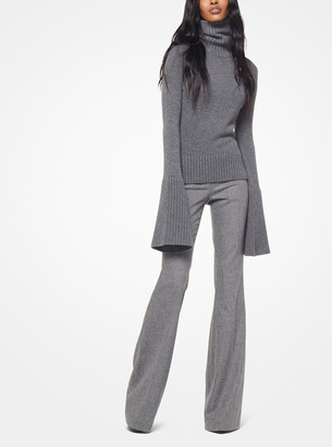 Michael Kors Cashmere Bell-Sleeve Turtleneck