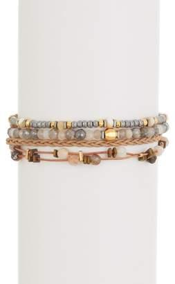 Chan Luu 18K Gold Plated Sterling Silver Beaded Bracelet