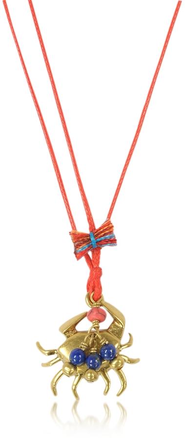 Tory BurchTory Burch Crab Charm Thread Necklace