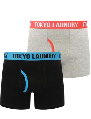 Tokyo Laundry Mens 2 Pack Cotton Boxer Shorts Underwear