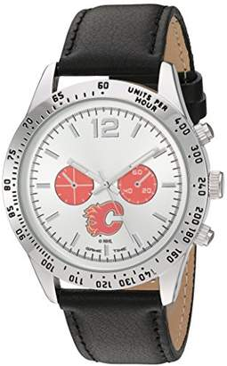 Game Time Men's 'Letterman' Metal and Leather Quartz Analog Watch