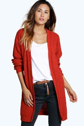 boohoo Martha Long Edge To Edge Grungy Cardigan $36 thestylecure.com