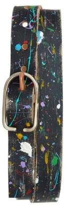 CAUSE AND EFFECT Cause & Effect Paint Splatter Leather Belt
