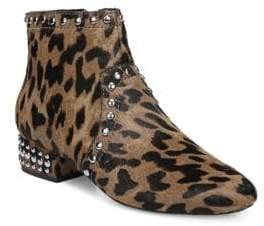 fddf359db1dd Sam Edelman Lorin Leopard Print Calf Hair Ankle Boots