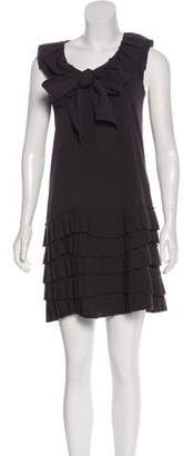 Robert Rodriguez Pleated Shift Dress