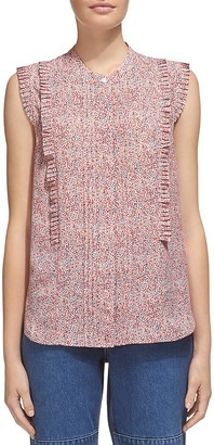 Whistles Double Dot Print Frill Shirt $210 thestylecure.com