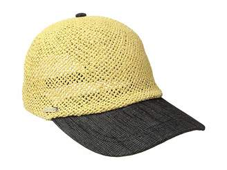 Calvin Klein Straw Cap w/ Chambray Brim Caps