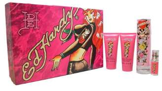 Christian Audigier Ed Hardy Perfume by for Women. 4 Pc. Gift Set.