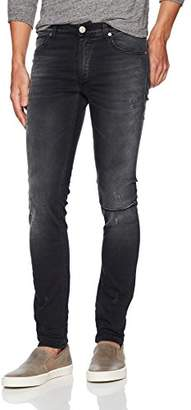 Versace Men's Distressed Denim