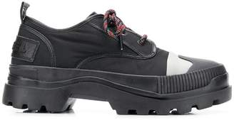 Diesel hybrid lace-up shoes with lug sole