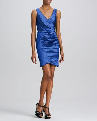 Nicole Miller V Neck Cocktail Dress
