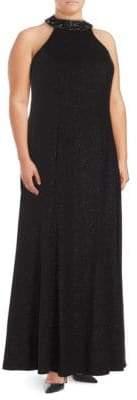 Marina Embellished Halterneck Gown