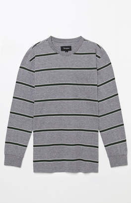 Brixton Hilt Washed Stripe Grey Long Sleeve T-Shirt