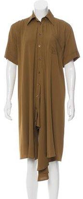 Jean Paul Gaultier Silk Button-Up Shirtdress $200 thestylecure.com