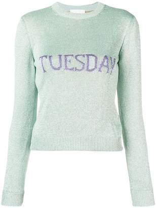Alberta Ferretti Tuesday intarsia sweater