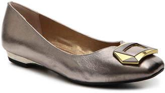 J. Renee Tustin Ballet Flat -Pewter Metallic - Women's