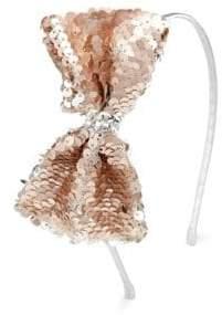 Bari Lynn Kid's Sequin Bow Headband
