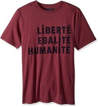French Connection Men's Short Sleeve Crewneck Reg Fit Slogan Cotton T-Shirt