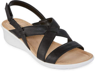 8beb93aa0d87 ST. JOHN S BAY Womens Benji Wedge Sandals