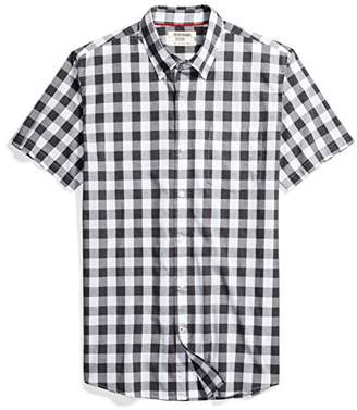Goodthreads Men's Slim-Fit Short-Sleeve Heathered Scale Check Shirt