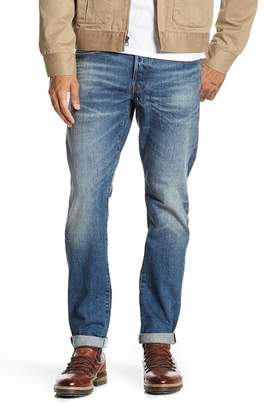 "G Star 3301 Straight Tapered Leg Jeans - 32"" Inseam"
