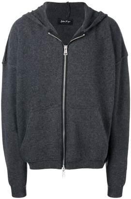 Andrea Ya'aqov zip knitted hoodie