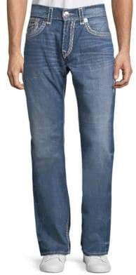 True Religion Straight Leg Contrast-Stitch Jeans