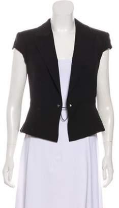 Alexander Wang Short Sleeve V-Neck Vest Black Short Sleeve V-Neck Vest