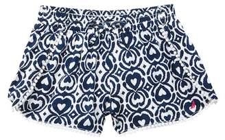 Nautica Crochet Dot Trim Ikat Print Shorts (Little Girls)