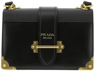 c00152b3a94f Prada Crossbody Bags Cahier Bag In Genuine Smooth And Saffiano Leather With  Maxi Studs And Buckle