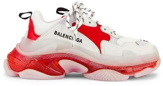 Balenciaga Triple S Sneakers in White & Red | FWRD