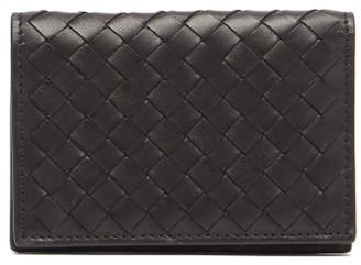Bottega Veneta Bi Fold Intrecciato Leather Card Holder - Mens - Black