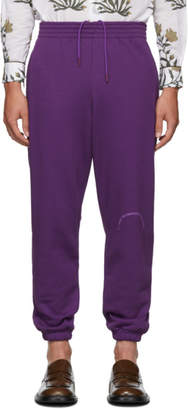Martine Rose Purple Slim Track Pants