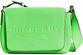 Burberry small logo embossed messenger bag