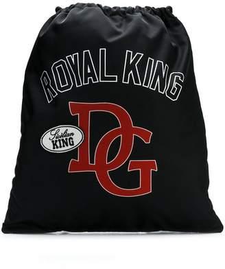 Dolce & Gabbana King print drawstring backpack