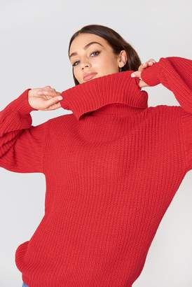 NA-KD Na Kd High Neck Oversized Knitted Sweater