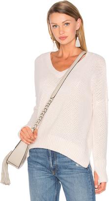 Line Charlie V Neck Sweater $175 thestylecure.com