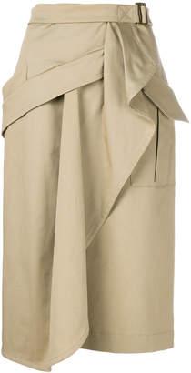 Alberta Ferretti draped wrap skirt