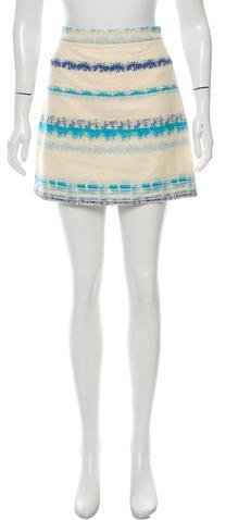 Alice + Olivia Alice + Olivia Tweed Mini Skirt