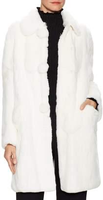 Miu Miu Women's Fur Buttoned Coat