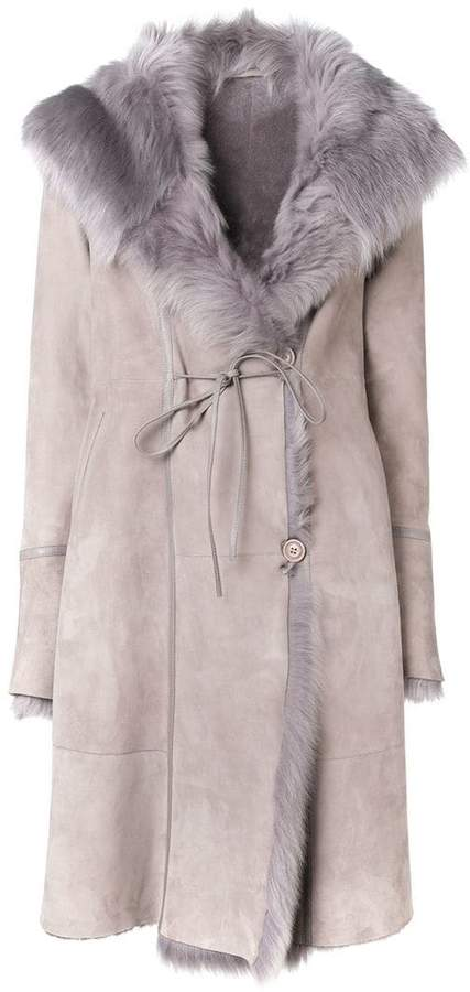Liska long fur coat