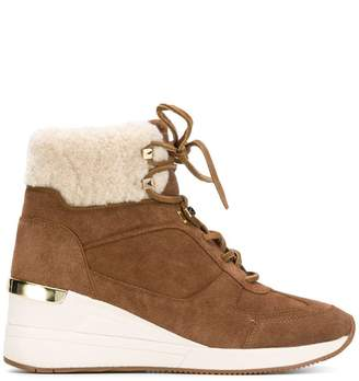 MICHAEL Michael Kors shearling trim ankle boots