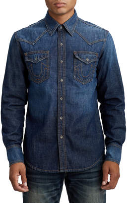 True Religion MENS DENIM WESTERN SHIRT