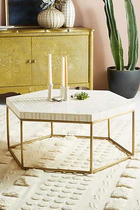 Anthropologie Hexagonal Inlay Coffee Table