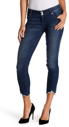 Hudson Collin Uneven Hem Cropped Jeans