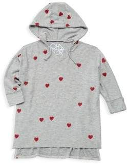 Chaser Little Girl's & Girl's Tiny Hearts Hoodie